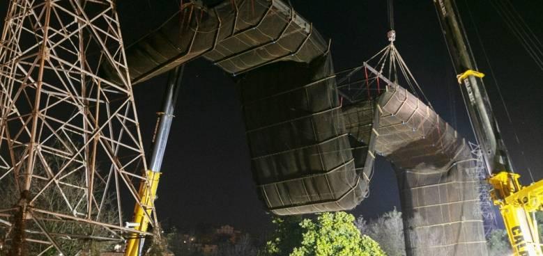 smontaggio ponte a rete 1 dicembre